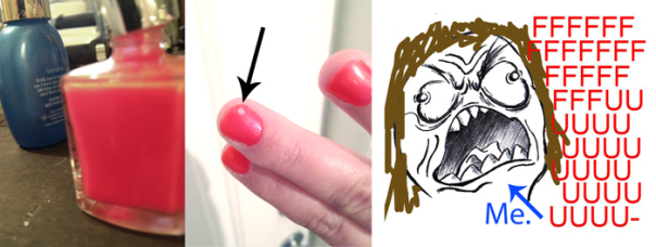 fingernail paint rage face