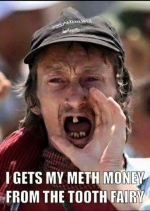 Redneck meth head: A default for someone without any creativity toward meme-ing.